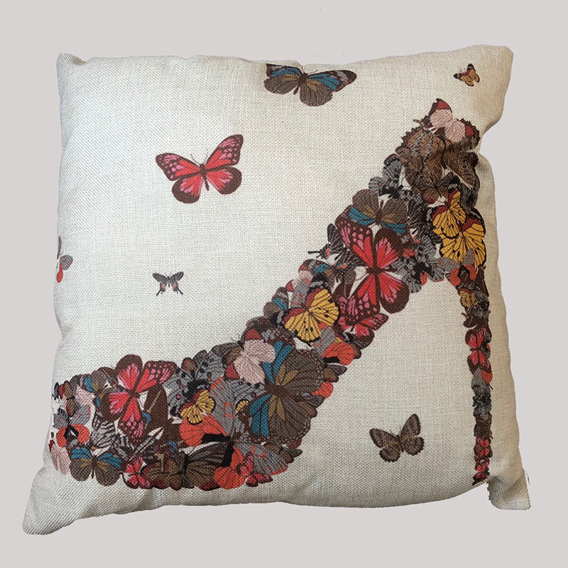 Butterfly Shoe Design Cushion