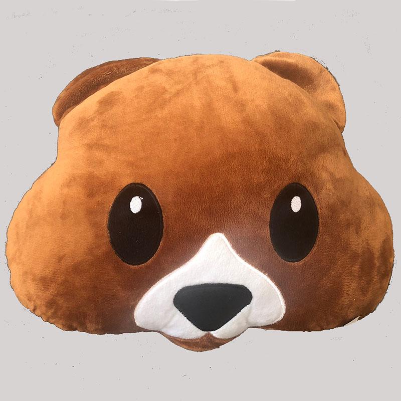 Emoji Dog Face Cushion