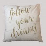 """Follow Your Dreams"" Cushion"