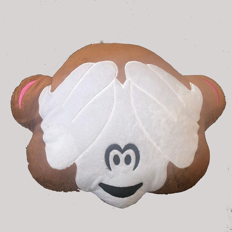 Emoji Monkey See No Evil Cushion