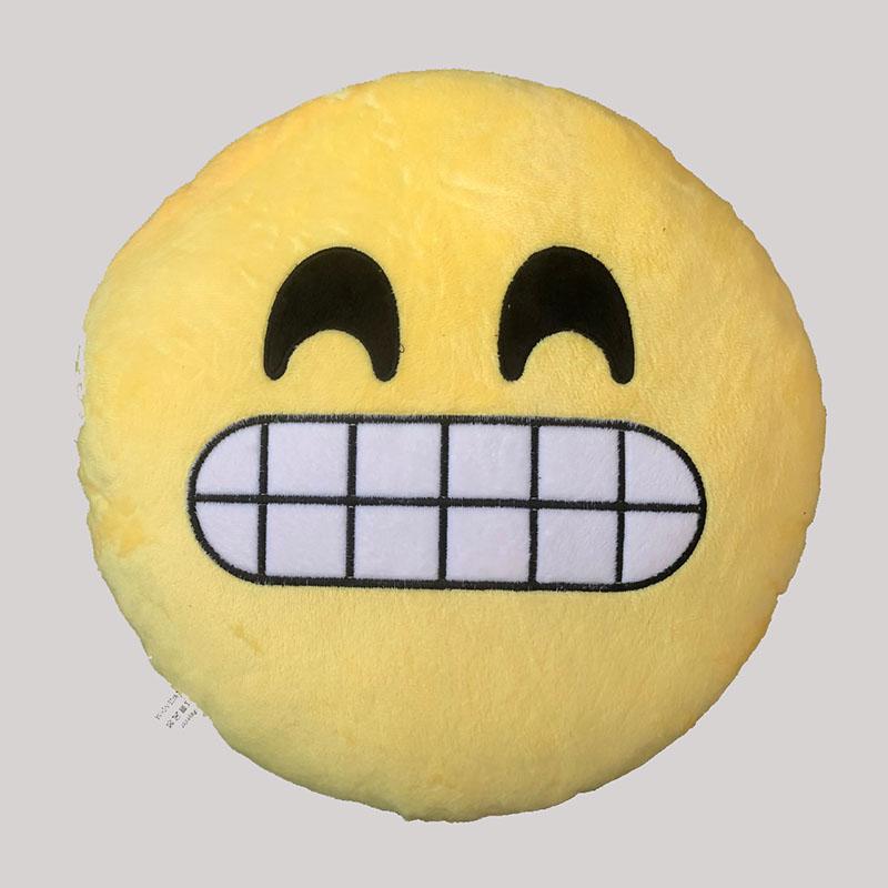 Emoji Grimacing Cushion