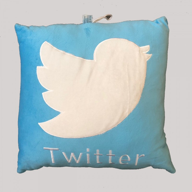 Twitter Logo Cushion