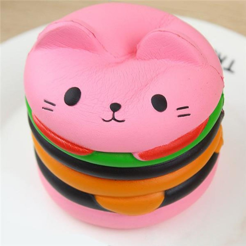 Pink Cat Burger Squishy