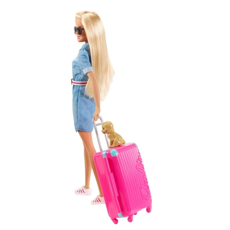 Barbie Dream House Adventures - Barbie Doll Travel Set with Puppy
