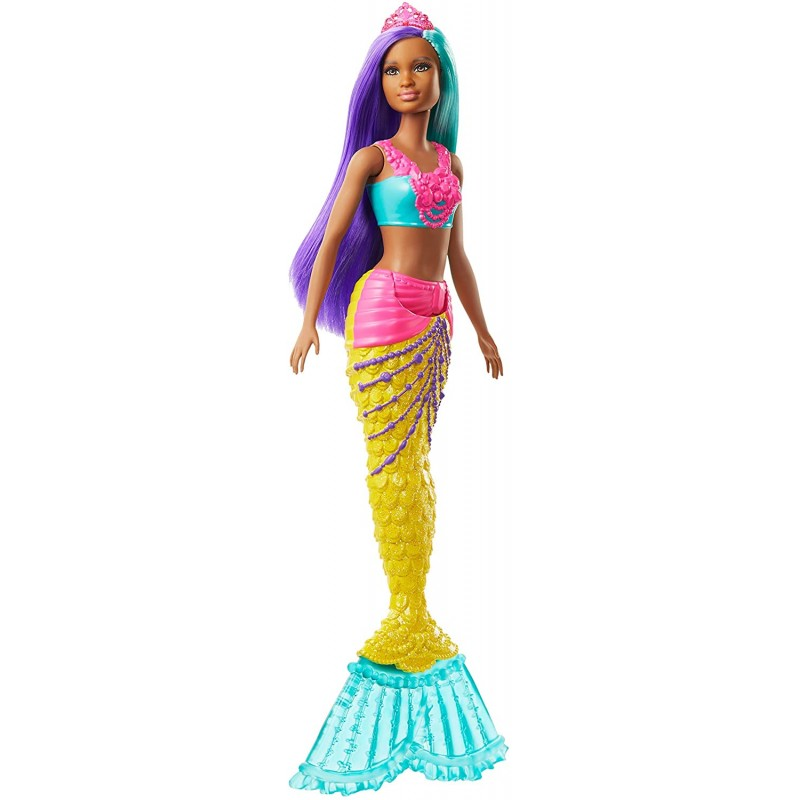 Barbie Dreamtopia Mermaid Doll with Teal and Purpl...