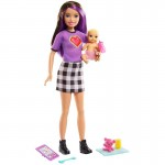Barbie Skipper Babysitter Inc Doll with Brunette Hair and Baby Accessories Set