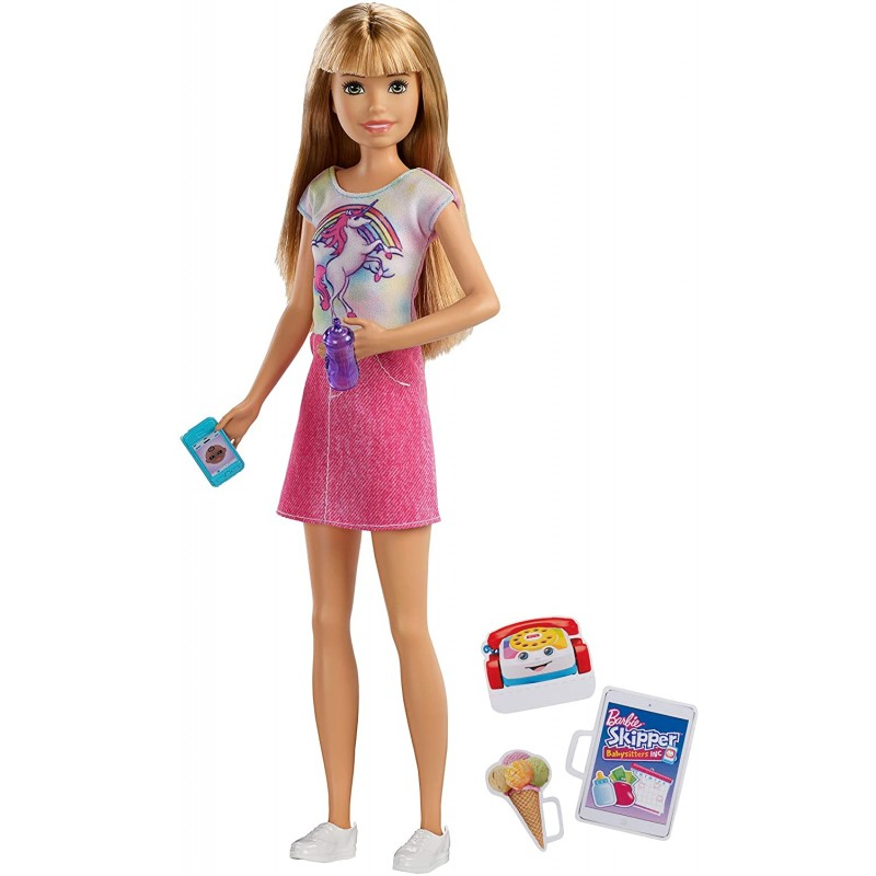 Barbie Skipper Babysitters Inc Doll with Unicorn T...