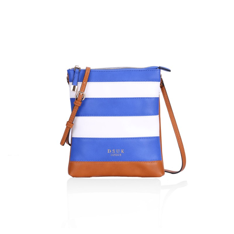 DSUK Blue/Brown Shoulder Bag