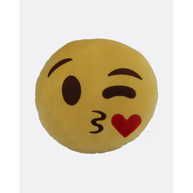 Emoji Cushion Blowing a Kiss