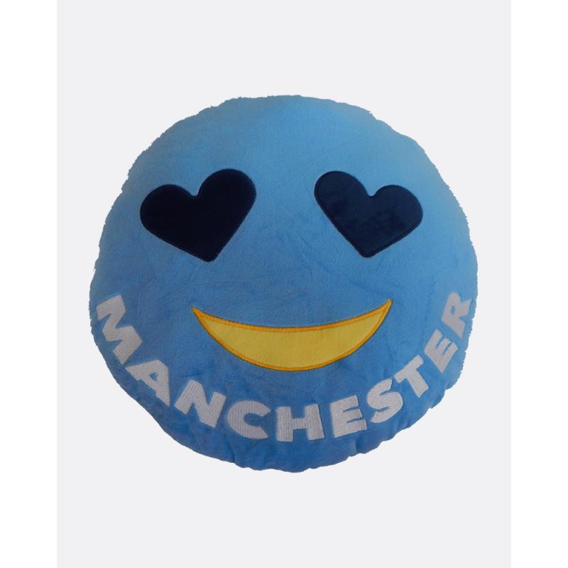Emoji Manchester City Football Cushion