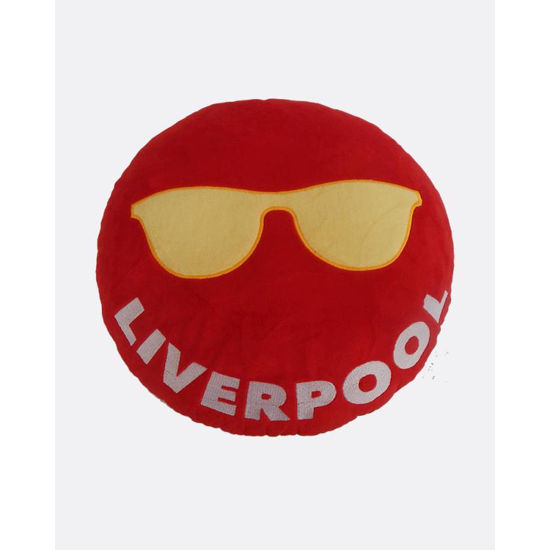 Emoji Liverpool Football Cushion