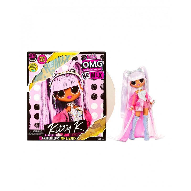 L.O.L. Surprise! OMG ReMix Kitty K Fashion Doll