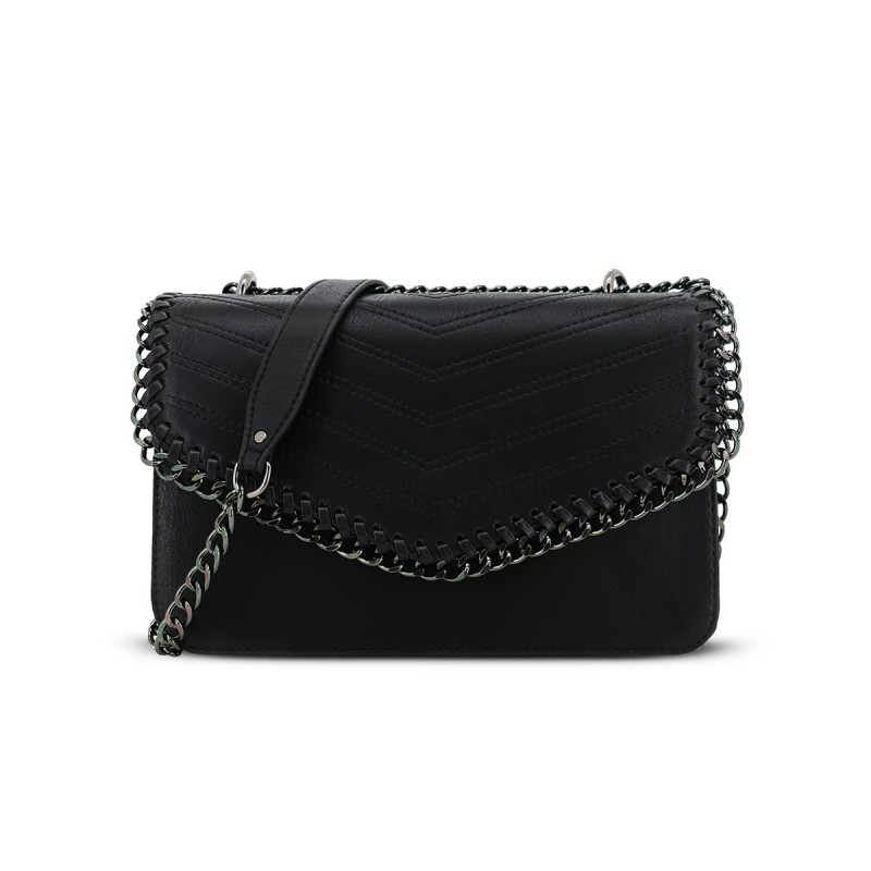 LYDC Cross Body Bag with Chain Link edging