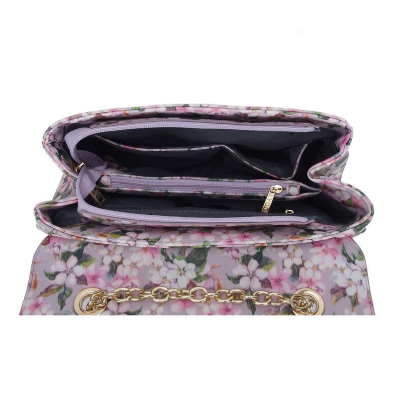 LYDC Floral Print Chain Shoulder Bag