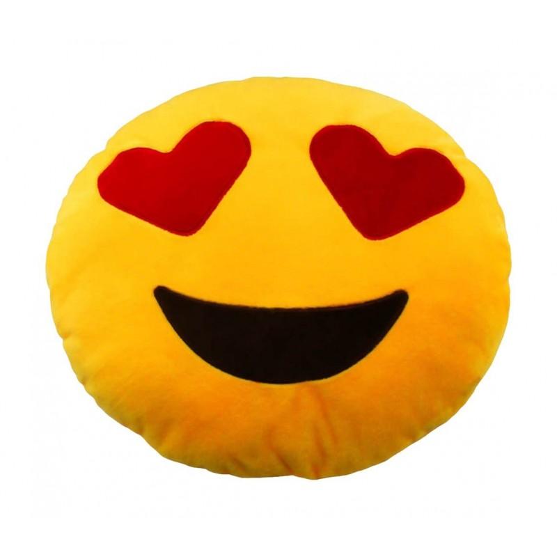 Emoji Cushion Love Heart Eyes