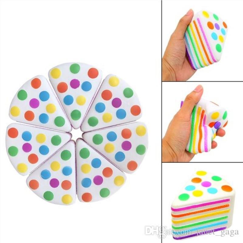 Rainbow Cake Slice Squishy