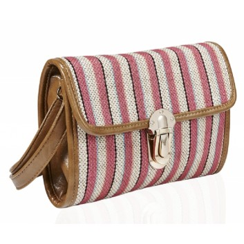 Pink Stripe Cross body bag