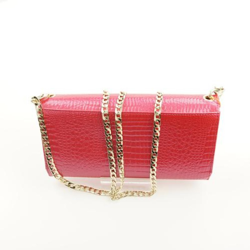 Peach Designer Patent Leather Clutch bag