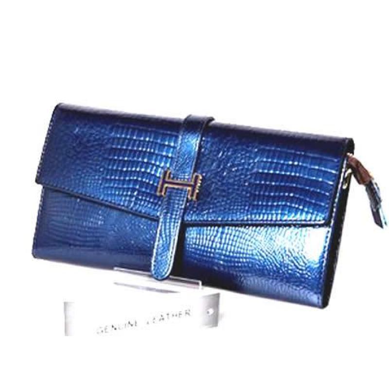 Peach Designer Patent Leather Clutch bag