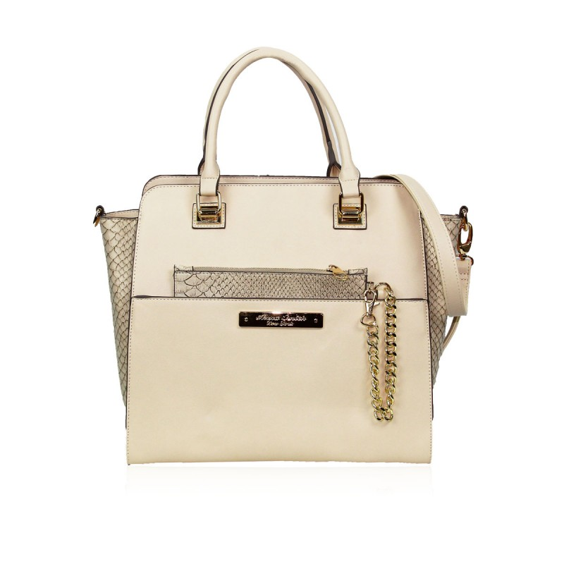 Anna Smith Designer Cream Handbag