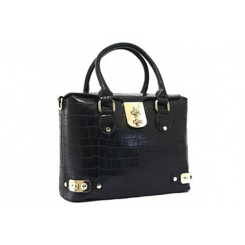 Bessie London Designer Black Handbag