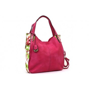 Bessie London Designer Rose coloured Handbag