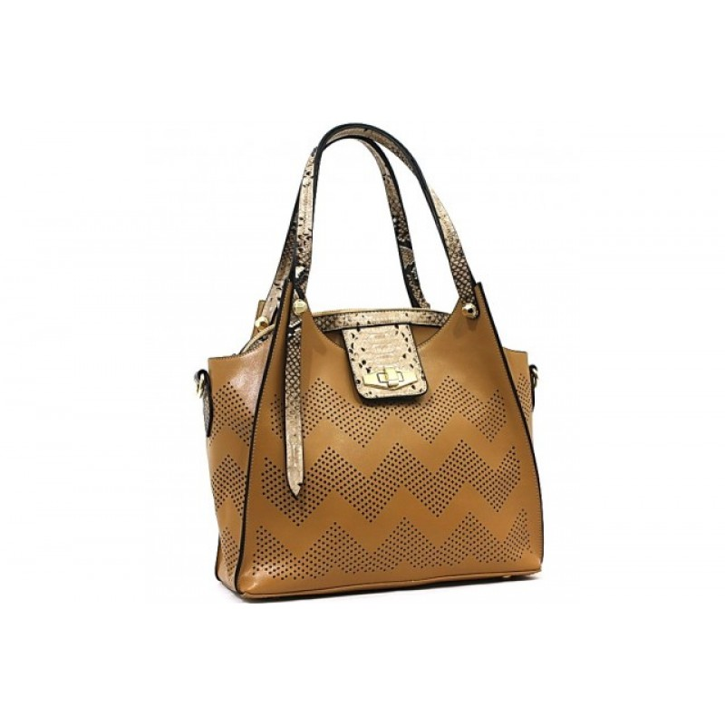 Bessie London Designer Tan Handbag