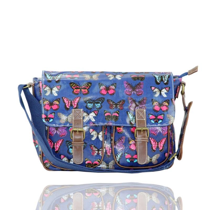 Gessy Blue Butterfly Satchel