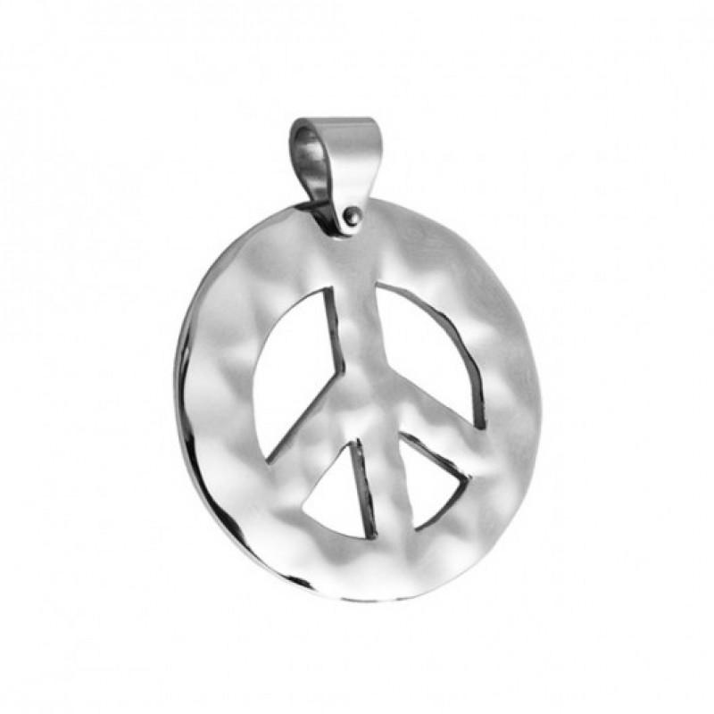 INSPIRIT Stainless Steel  Peace Pendant