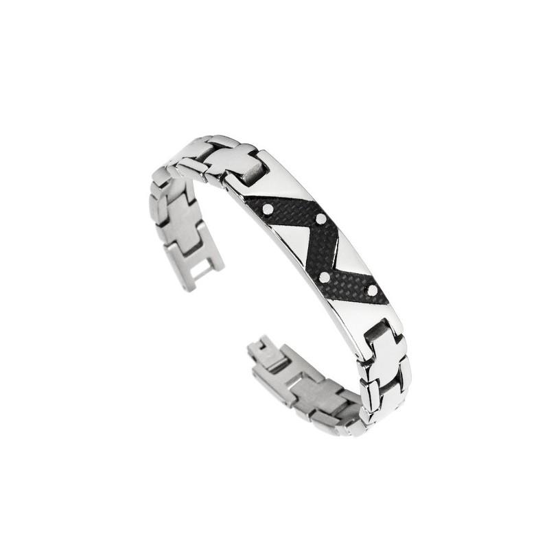 INSPIRIT Men's Stainless Steel Two-Tone Bracelet