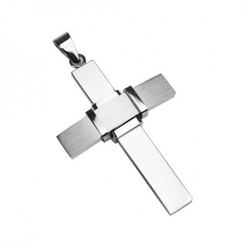 INSPIRIT Stainless Steel Cross Pendant