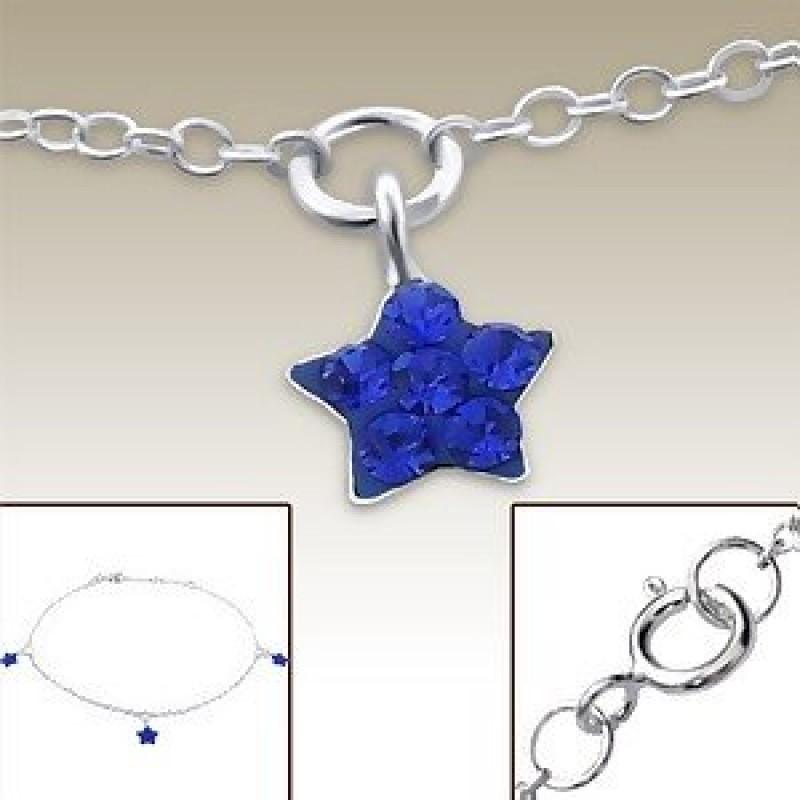 Kids Silver Star Bracelet