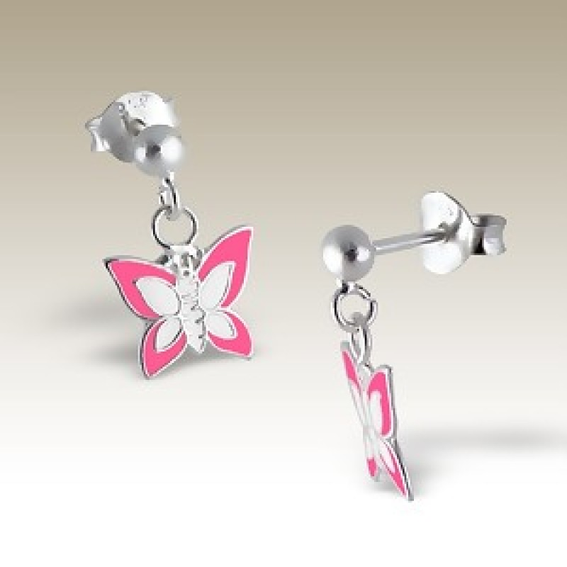 Kids  Butterfly Stud Drop Earrings