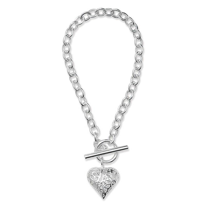 Sterling Silver T Bar Bracelet