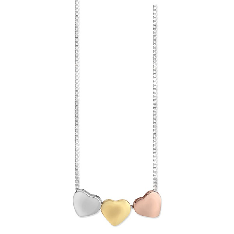 16 Inch 3 Heart Necklace