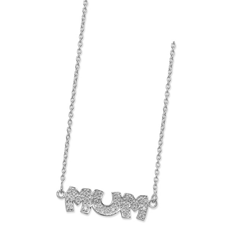 Cubic Zirconia Mum Necklace