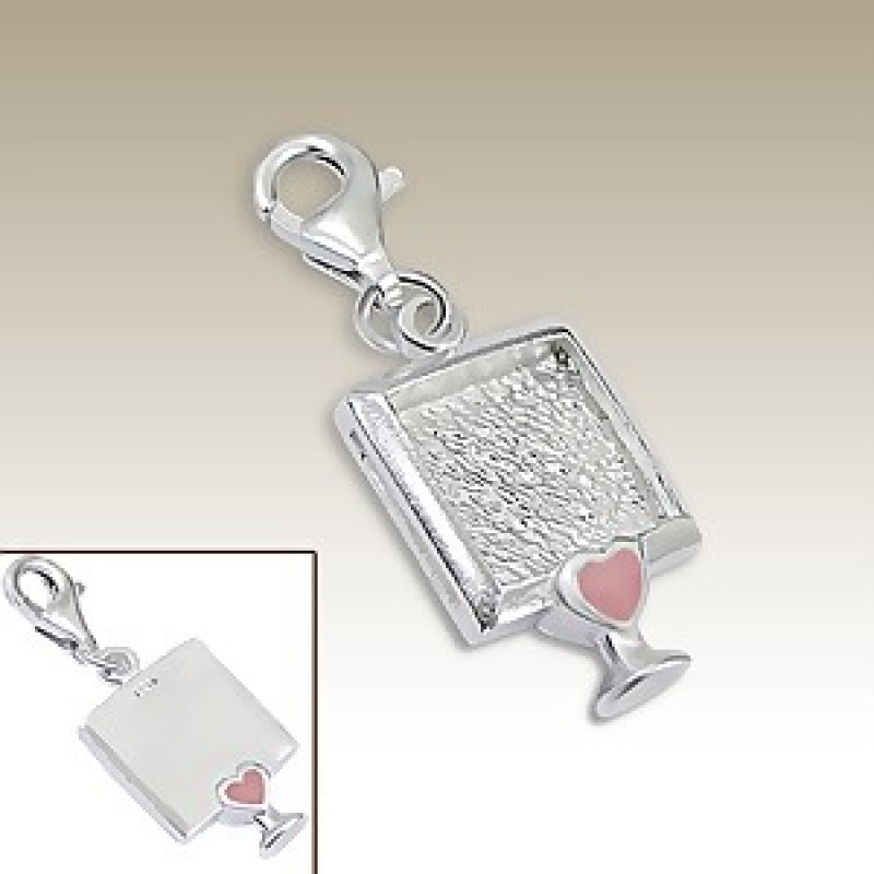 Sterling Silver 3D Picture Frame Charm