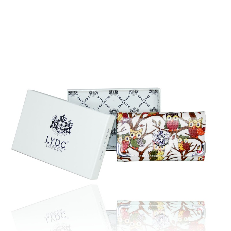 LYDC White Owl Purse