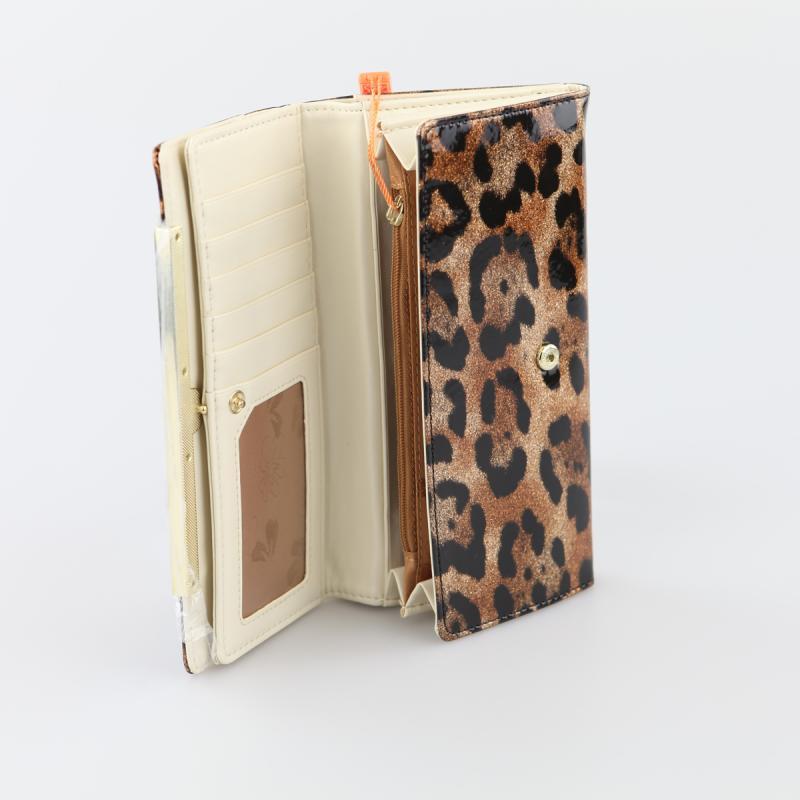 Peach Designer Leopard Print Purse