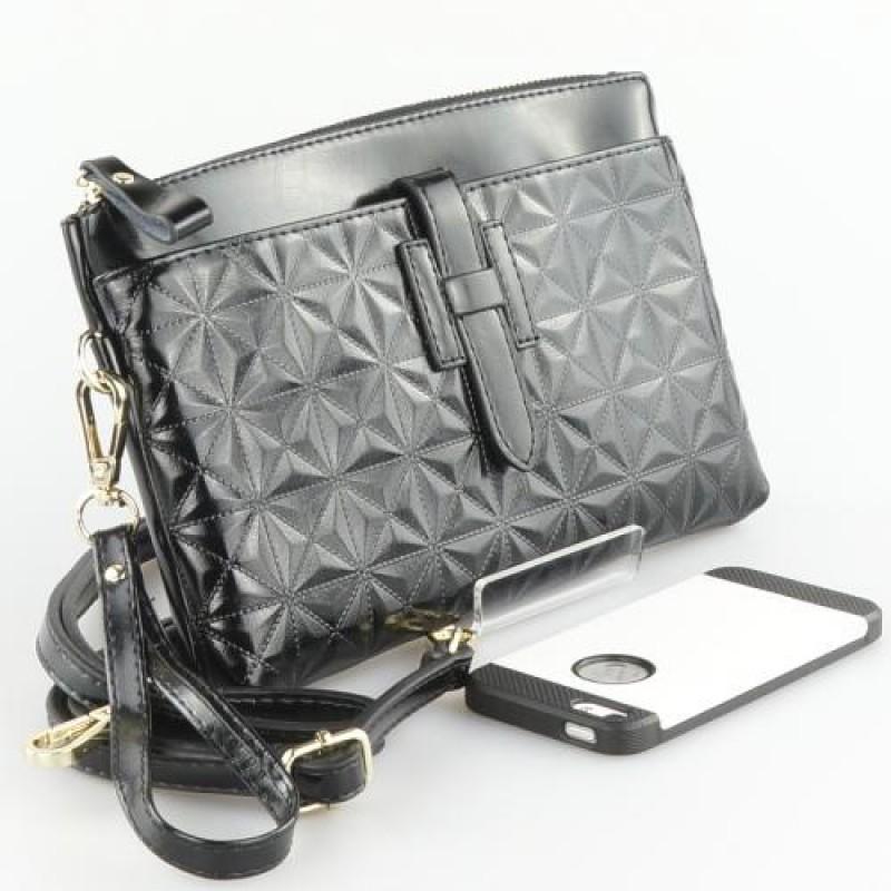 Peach Designer Leather Evening Handbag