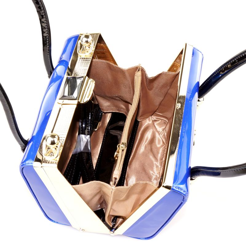 Peach Designer Electric Blue Handbag