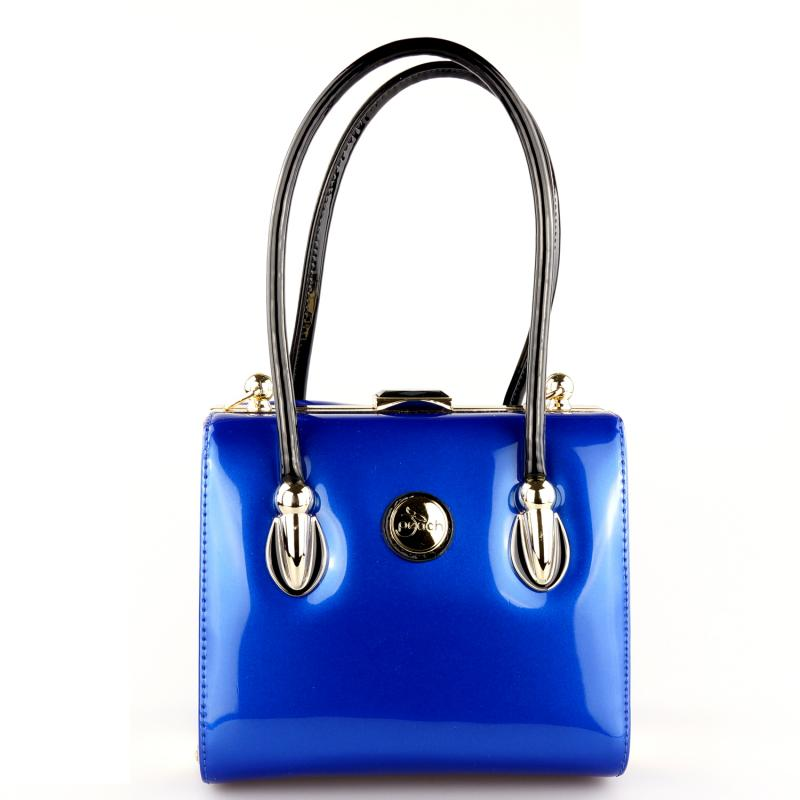 Peach Designer Electric Blue Handbag