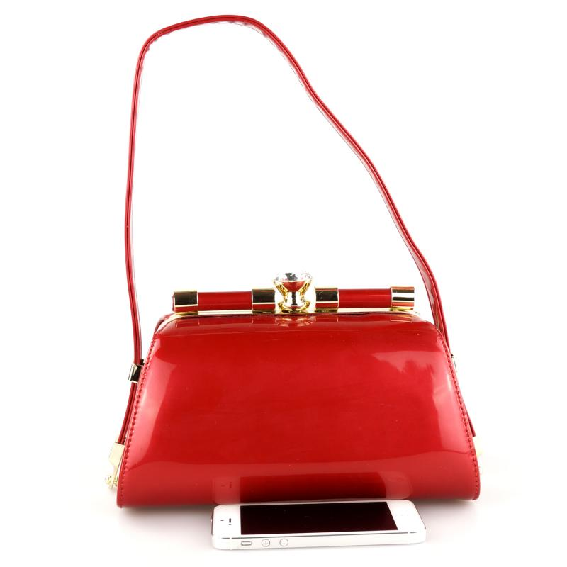 Peach Designer Red Handbag