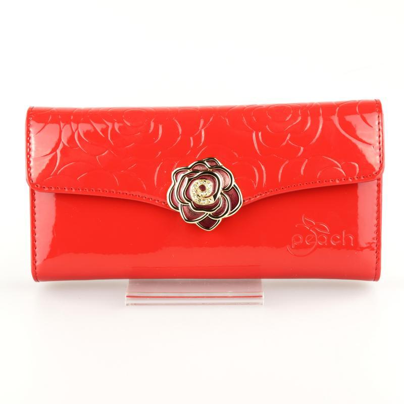 Peach Designer Leather Purse