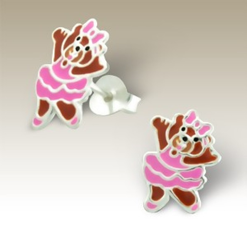 Kids Ballerina Bear Earrings