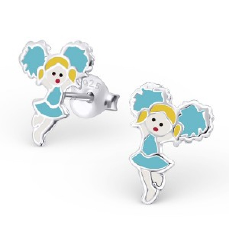 Kids Cheerleader Earrings
