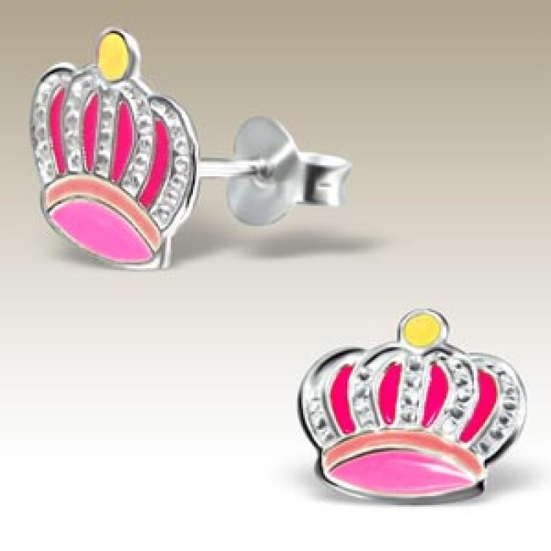 Kids Crown Earrings