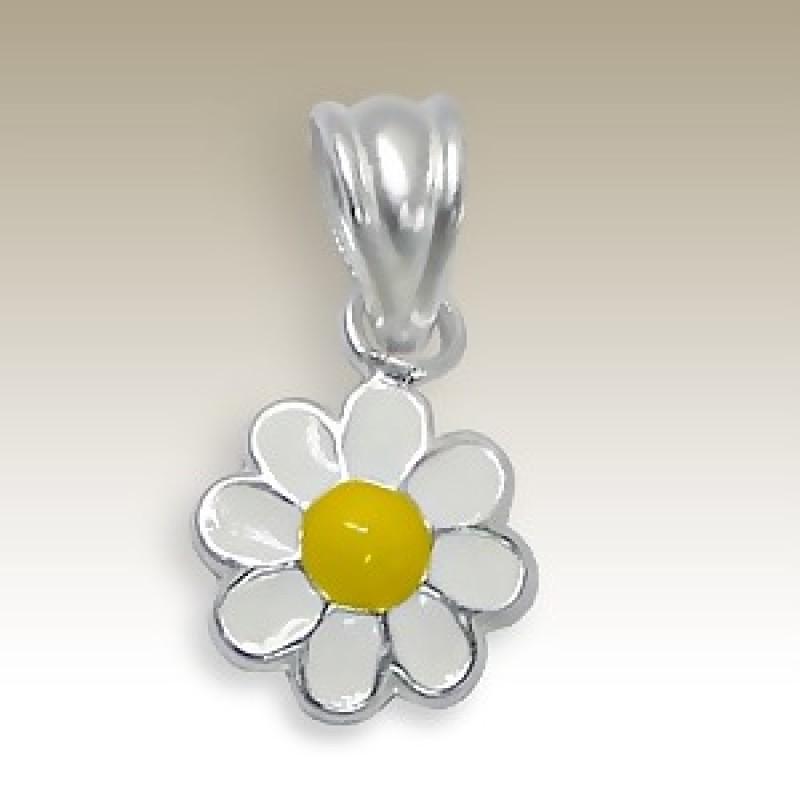 Kids Silver Flower Pendant
