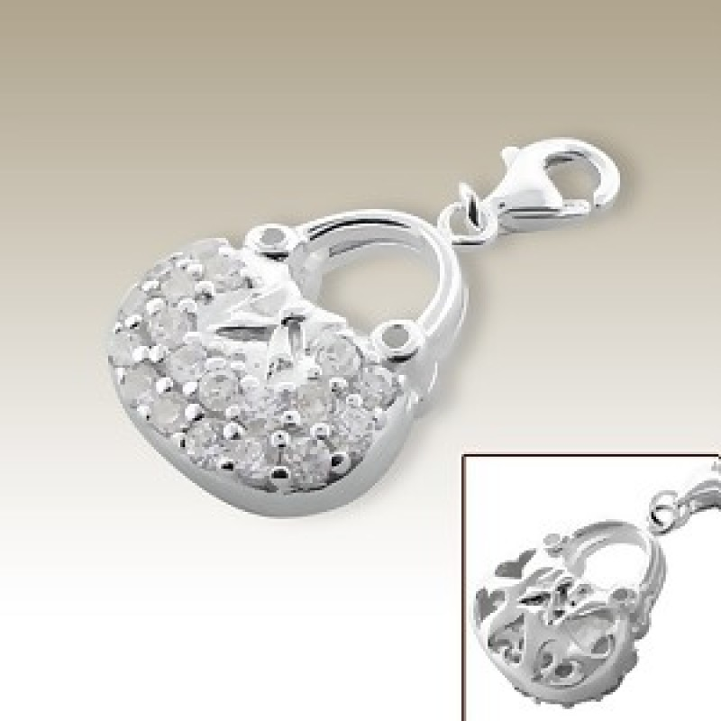 Sterling Silver Handbag Charm