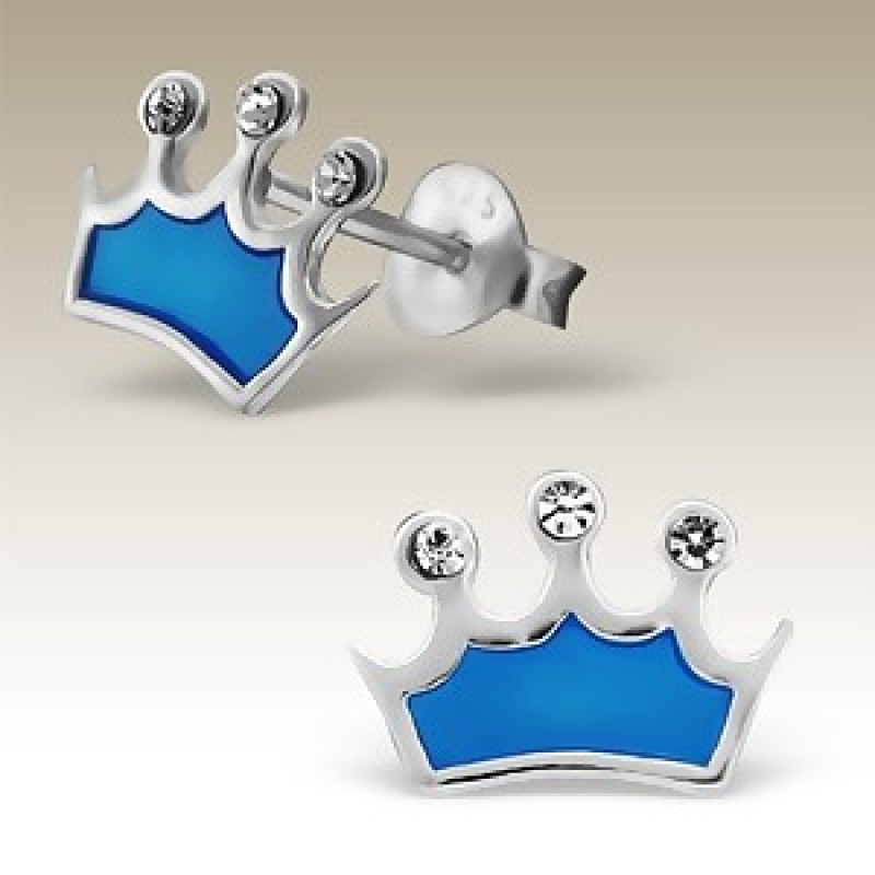 Kids Crown Stud Earrings